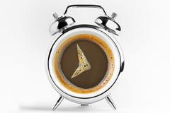 Concetto di tempo del caffè Fotografia Stock