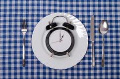 Concetto di tempo del pasto Fotografia Stock Libera da Diritti