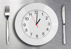 Concetto di tempo del pranzo Immagini Stock