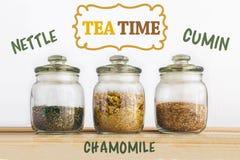 Concetto di tempo del tè Fotografia Stock