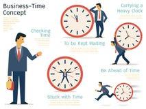 Concetto di tempo di affari illustrazione di stock