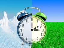 Concetto di tempo di risparmio di luce del giorno Immagini Stock Libere da Diritti