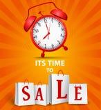 Concetto di tempo di vendita Fotografia Stock Libera da Diritti