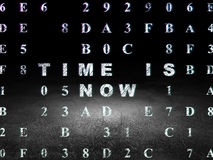 Concetto di tempo: Il tempo è ora nella stanza scura di lerciume Fotografie Stock