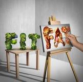 Concetto di tentazione dell'alimento illustrazione di stock