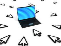 Concetto di traffico di Web site Immagine Stock Libera da Diritti
