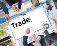 Concetto di transazione commerciale di importazioni-esportazioni di scambio commerciale immagine stock libera da diritti
