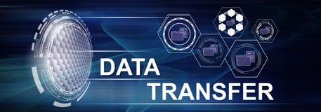 Concetto di trasferimento di dati illustrazione di stock