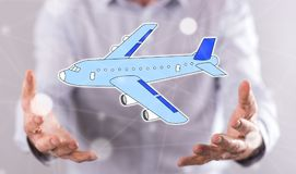 Concetto di trasporto aereo Fotografie Stock