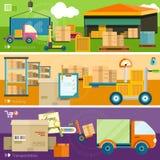 Concetto di trasporto di consegna Fotografie Stock Libere da Diritti