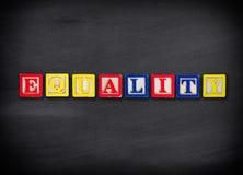 Concetto di uguaglianza Fotografia Stock