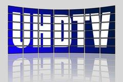 Concetto di UHDTV Fotografia Stock