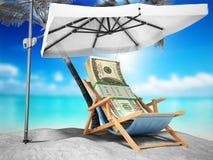 Concetto di un dollaro b di viaggio cento di concetto di vacanza di credito Fotografia Stock Libera da Diritti