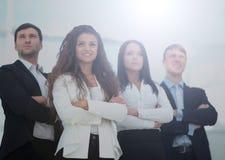 Concetto di un gruppo: un riuscito gruppo professionale di affari con Fotografia Stock Libera da Diritti
