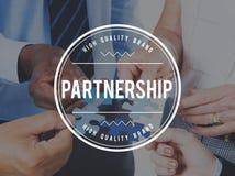 Concetto di unità di lavoro di squadra di Alliance di associazione dei partner Fotografie Stock Libere da Diritti
