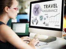 Concetto di vacanza di turismo della destinazione di assicurazione di viaggio fotografia stock
