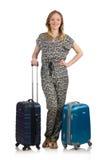 Concetto di vacanza di viaggio con bagagli Fotografie Stock