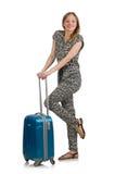 Concetto di vacanza di viaggio con bagagli Fotografie Stock Libere da Diritti
