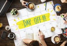 Concetto di vacanza di viaggio di rilassamento di festa della rottura di giorno libero Immagini Stock