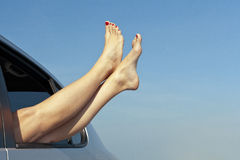 Concetto di vacanza di viaggio stradale di estate Fotografie Stock