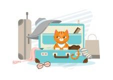 Concetto di vacanze estive illustrazione di stock