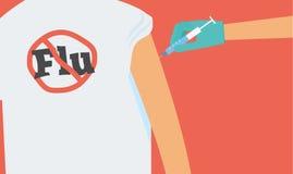 Concetto di vaccinazione di influenza illustrazione di stock