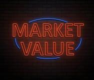 Concetto di valore di mercato Fotografia Stock Libera da Diritti
