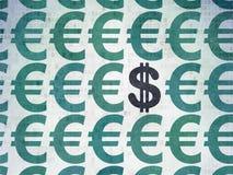 Concetto di valuta: icona del dollaro sulla carta di Digital Immagini Stock Libere da Diritti
