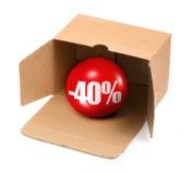 Concetto di vendita - 40 per cento Fotografia Stock Libera da Diritti