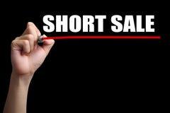 Concetto di vendita allo scoperto fotografia stock