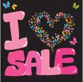 Concetto di vendita con cuore Immagini Stock