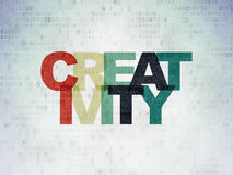 Concetto di vendita: Creatività sulla carta di Digital Fotografia Stock