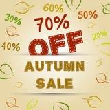 Concetto di vendita di autunno Fotografia Stock Libera da Diritti