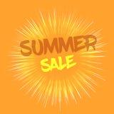 Concetto di vendita di estate con effetto dei fuochi d'artificio Fotografia Stock
