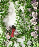Concetto di vendita di festa delle piante e dei fiori Immagini Stock Libere da Diritti