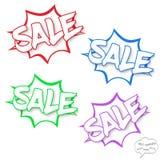Concetto di vendita di vettore nelle bolle dei fumetti Fotografie Stock