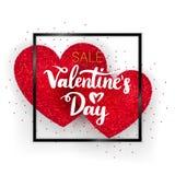 Concetto di vendita di giorno di biglietti di S. Valentino Fotografie Stock Libere da Diritti