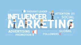 Concetto di vendita di Influencer illustrazione vettoriale
