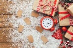 Concetto di vendita di inverno Sconto di Natale Fotografia Stock