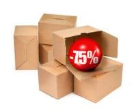 Concetto di vendita - mano con la lente d'ingrandimento Immagini Stock