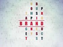 Concetto di vendita: marca di parola nella soluzione delle parole incrociate Immagini Stock