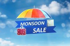 Concetto di vendita di monsone Fotografie Stock