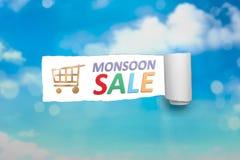 Concetto di vendita di monsone Immagine Stock Libera da Diritti