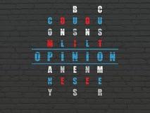Concetto di vendita: opinione di parola nella soluzione Fotografia Stock Libera da Diritti