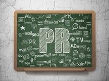 Concetto di vendita: PR sul fondo del consiglio scolastico Fotografie Stock