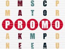 Concetto di vendita: promo di parola nella soluzione delle parole incrociate Fotografia Stock Libera da Diritti