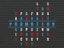 Concetto di vendita: promozione di parola nella soluzione Fotografia Stock Libera da Diritti