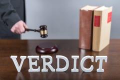 Concetto di verdetto Immagini Stock Libere da Diritti