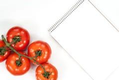 Concetto di verdure di forma fisica del pomodoro Vista superiore fotografia stock