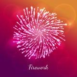 Concetto di vettore del fuoco d'artificio Illustrazione Vettoriale
